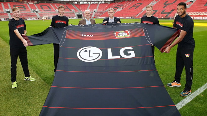 Lg спонсор футбольной команды байер