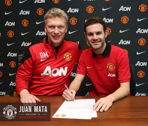 """""""Манчестер Юнайтед"""" объявил о подписании контракта с Хуаном Матой"""
