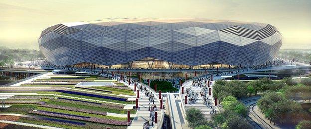 Катар представил проект нового стадиона к ЧМ-2022
