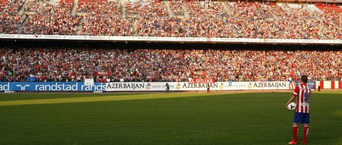"""Вилья представлен в качестве игрока """"Атлетико"""" в присутствии 20 000 зрителей"""