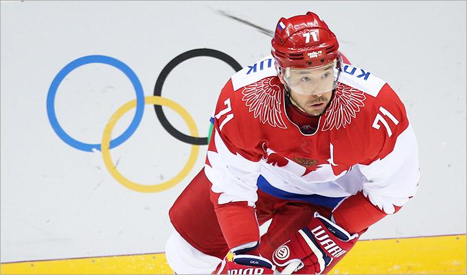 Нападающий сборной России по хоккею Илья Ковальчук.