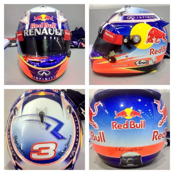 Дизайн гоночного шлема Даниэля Риккардо на сезон-2014