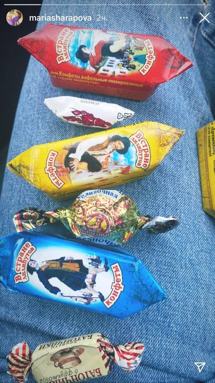 Шарапова опубликовала фото российских конфет. Она владеет зарубежным брендом сладостей
