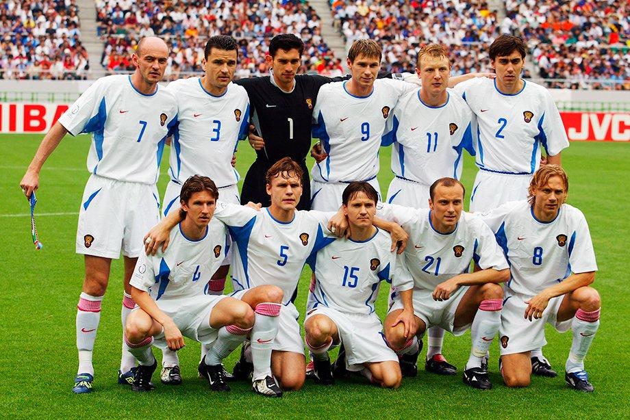 Сборная России перед матчем с Бельгией на ЧМ-2002