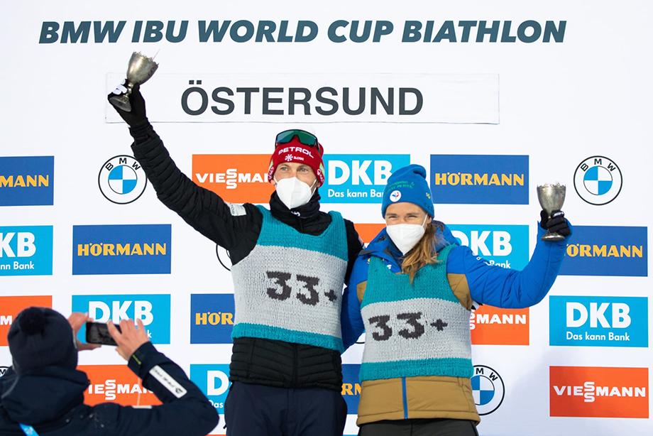 На заключительном этапе Кубка мира по биатлону лучшим возрастным биатлонистам были вручены «серебряные» майки