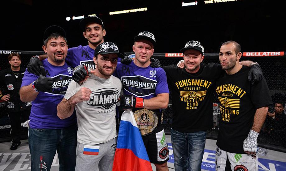 История чемпионского боя Александра Шлеменко с бразильцем Фалькао в Bellator