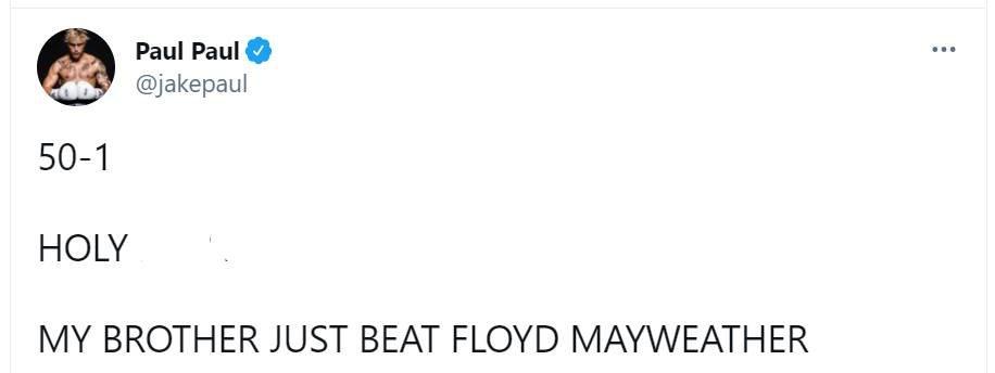 Флойд Мейвезер и Логан Пол провели 8-раундовый бой и не выявили победителя, видео