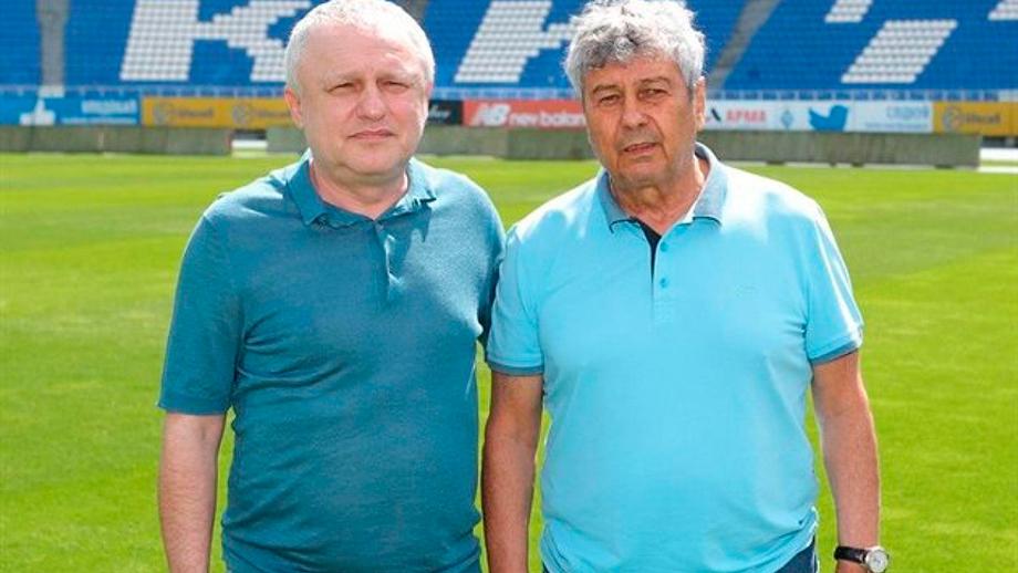 Игорь Суркис и Мирча Луческу