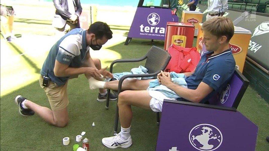 Давид Гоффен взял медицинский тайм-аут на турнире в Галле