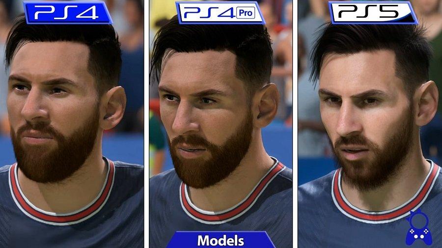 Модель Месси на PS4, PS4 Pro и PS5