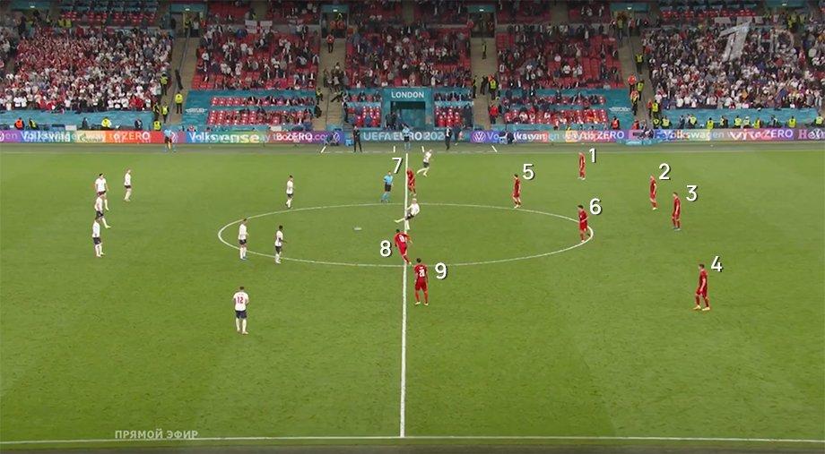 В дополнительное время у Дании пропал игрок. И этого почти никто не заметил!