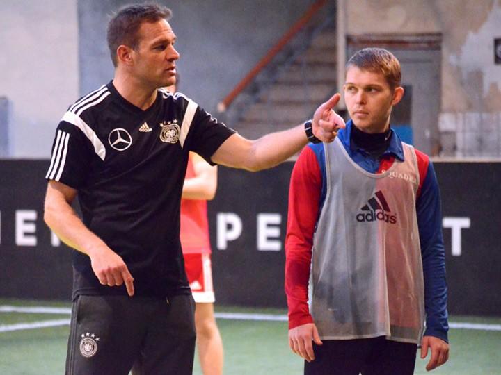 В Москве прошли футбольные тренировки по немецкой системе