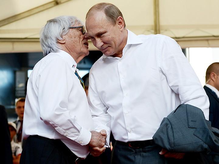 Берни Экклстоун и Владимир Путин