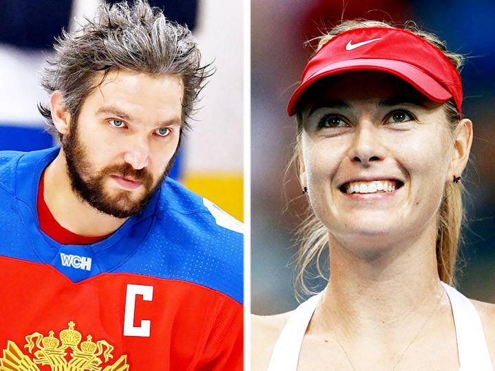 Александр Овечкин и Мария Шарапова