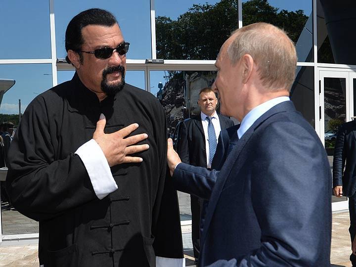 Стивен Сигал и Владимир Путин
