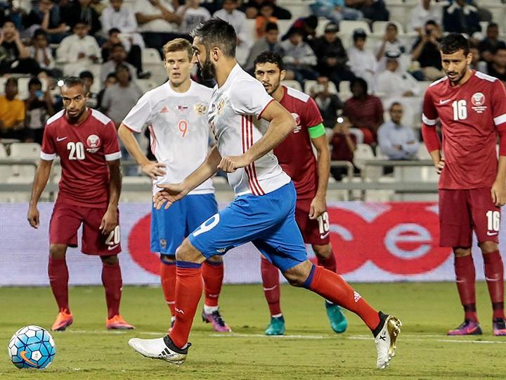 Онлайн-трансляция товарищеского матча Катар — Россия