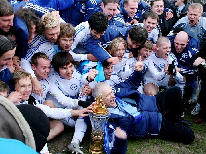 Аршавин, Денисов, Тимощук — чемпионы России в составе «Зенита» 2007 года
