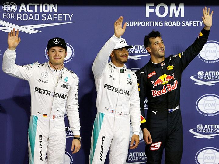 Гран-при Абу-Даби Формулы-1: Хэмилтон стартует первым, Нико — 2-м