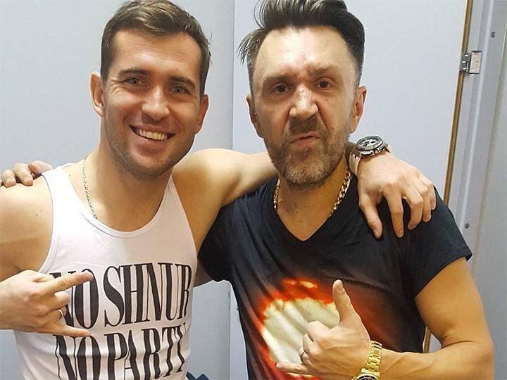 Александр Кержаков и Сергей Шнуров