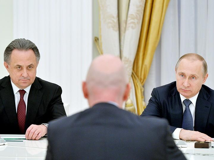 Виталий Мутко и Владимир Путин