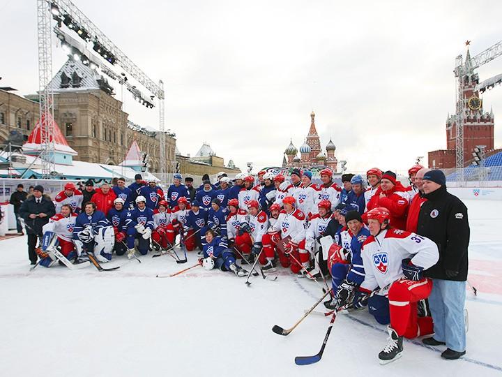 мастер-класс по хоккею на красной площади 2007