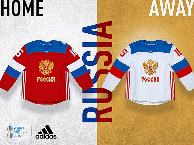 Форма команд Кубка мира. Россия, Канада, США, Чехия, Финляндия, Европа
