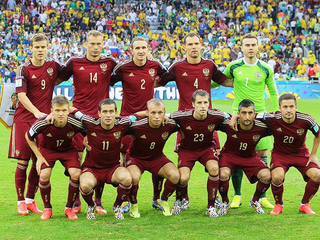 Сборная России перед матчем с Алжиром