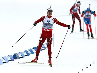 Антон Шипулин – серебряный призёр масс-старта