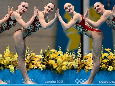 Лондон-2012. Синхронное плавание. Россия