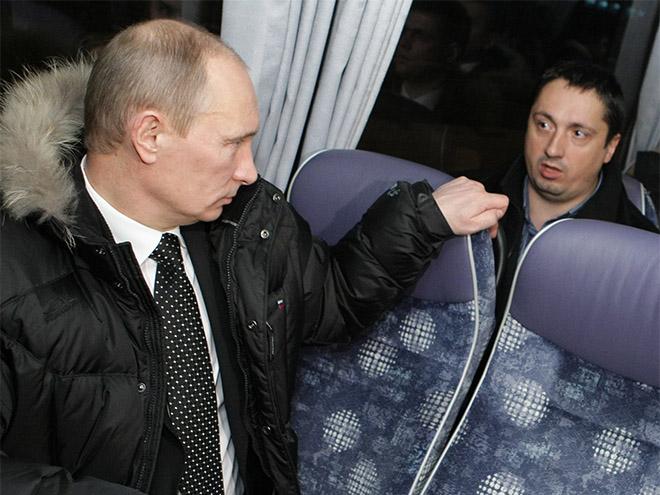 Владимир Путин и Александр Шпрыгин