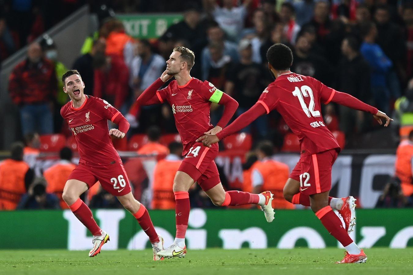 Ливерпуль одержал волевую победу в матче с Миланом в Лиге чемпионов