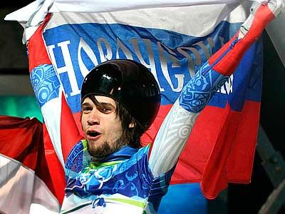 Первая медаль России в скелетоне