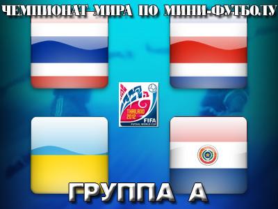 Анонс группы А чемпионата мира по мини-футболу