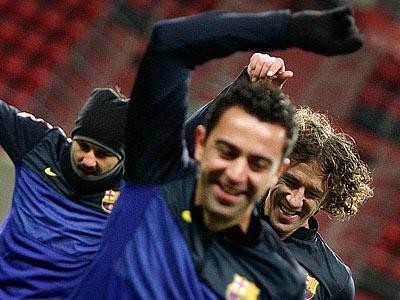 Каталонцы провели предматчевую тренировку