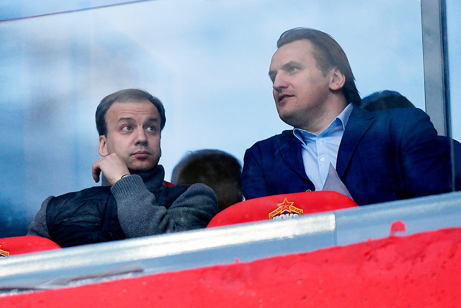 Аркадий Дворкович и Дмитрий Булыкин