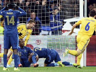 Украина — Франция — 2:0