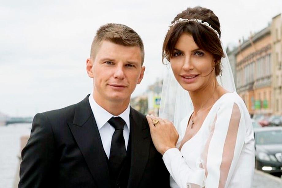 Андрей Аршавин с супругой