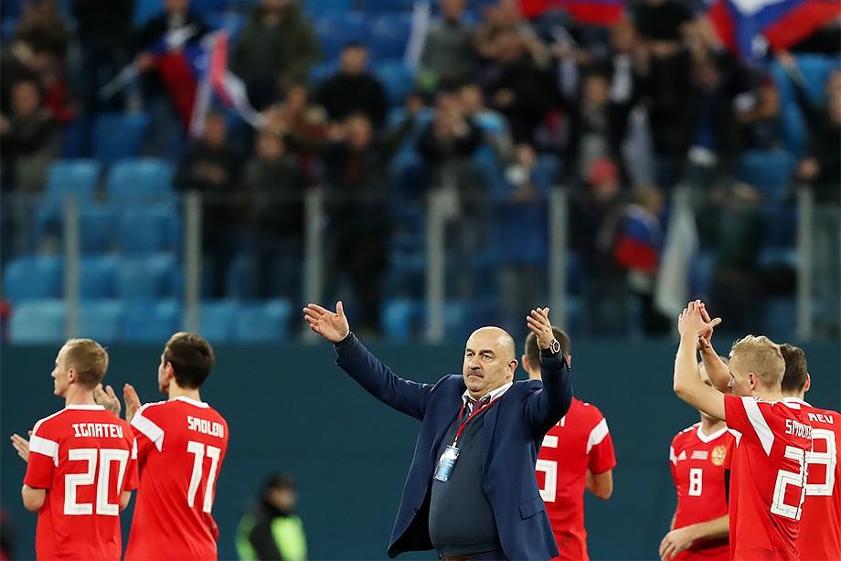 Станислав Черчесов, сборная России по футболу