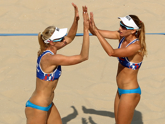 Уколова и Бирлова, пляжный волейбол, женщины, Олимпиада-2016