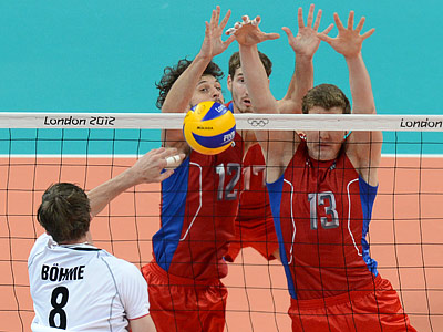 Российские волейболисты обыграли сборную Германии