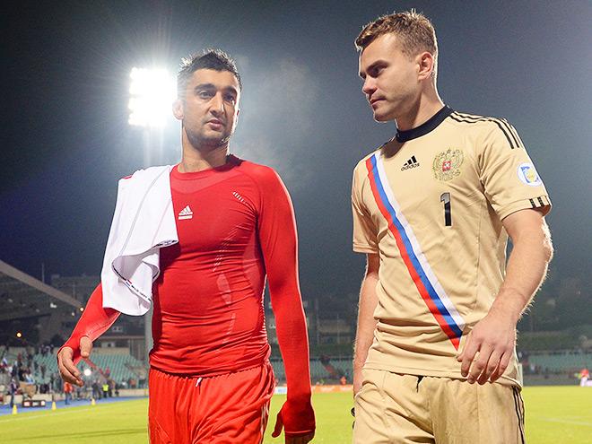 Александр Самедов и Игорь Акинфеев
