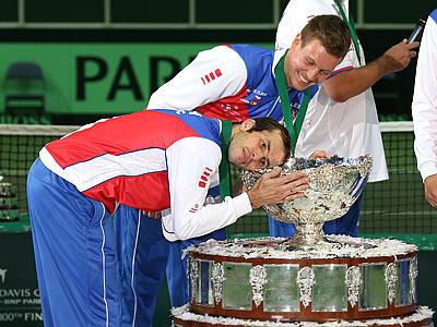 Т. Бердых и Р. Штепанек - о победе в Кубке Дэвиса