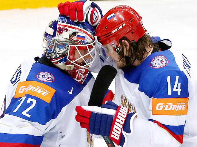 Сергей Бобровский и Виктор Тихонов