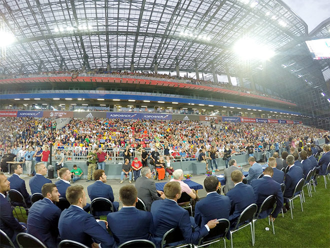 ЦСКА вместе с Гинером, Ивановым и Слуцким презентовал новый стадион