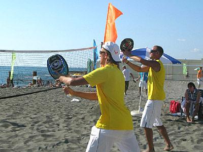 Теннис переходит с травы на пляжный песок