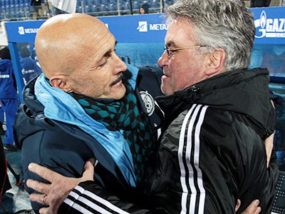 Лучано Спаллетти и Гус Хиддинк