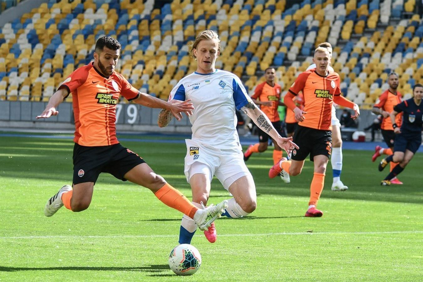 Футбол Динамо Киев - Шахтер Донецк 4.07.2020 смотреть онлайн
