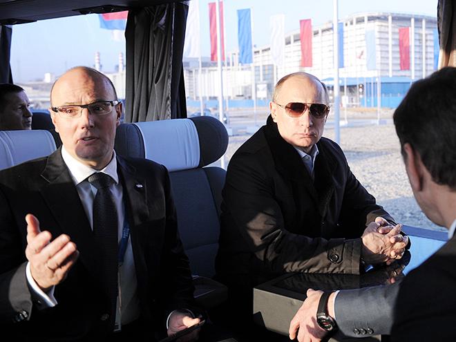 Владимир Путин и Дмитрий Чернышенко