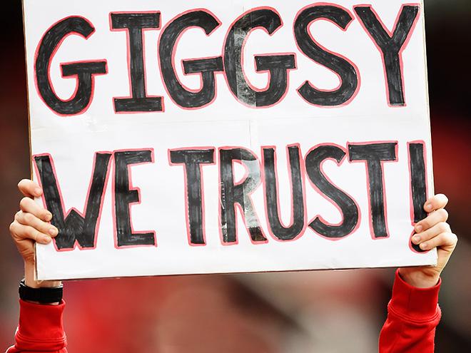 Баннер в поддержку Райана Гиггза