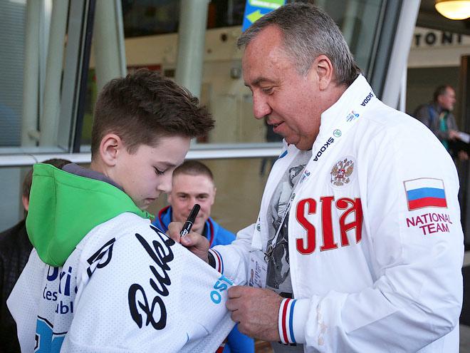 Сборная России прилетела на ЧМ-2015 в Остраву
